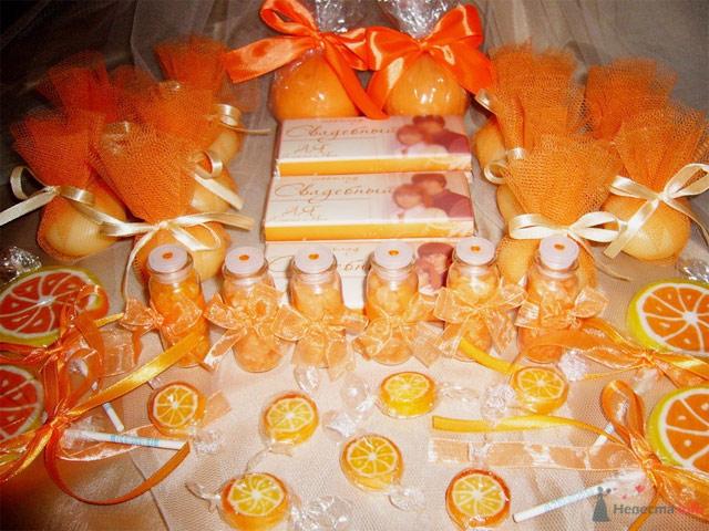 Оранжевая свадьба. Сладости.