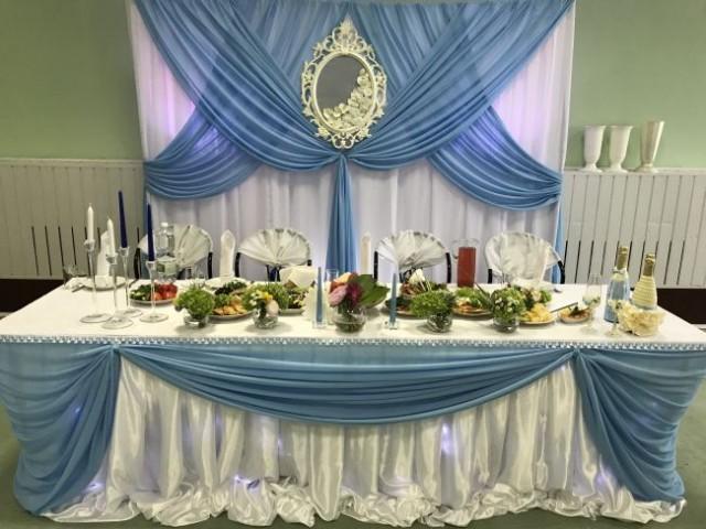 Свадебное оформление в голубом цвете. Голубая свадьба.