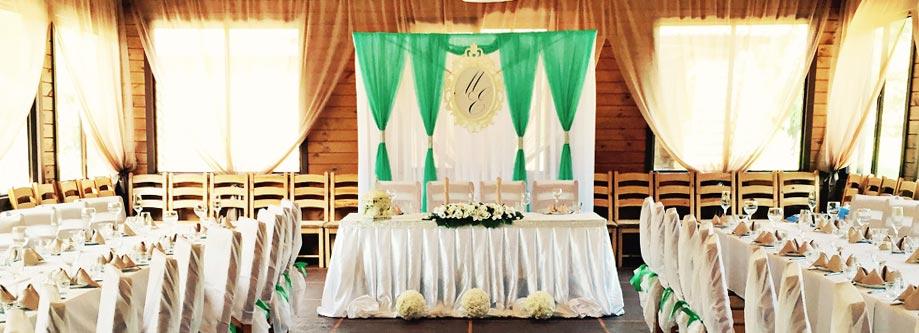 Оформление свадебного зала в кафе и ресторанах
