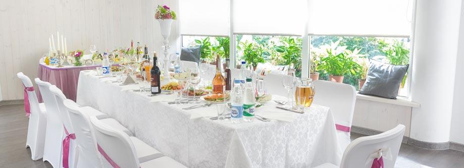 Свадебное украшение стола для гостей