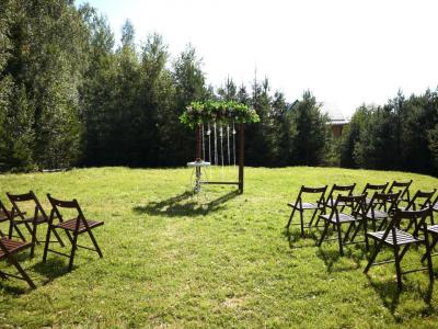 Оформление выездной регистрации и свадебный декор зала в усадьба «Дачка Бай»