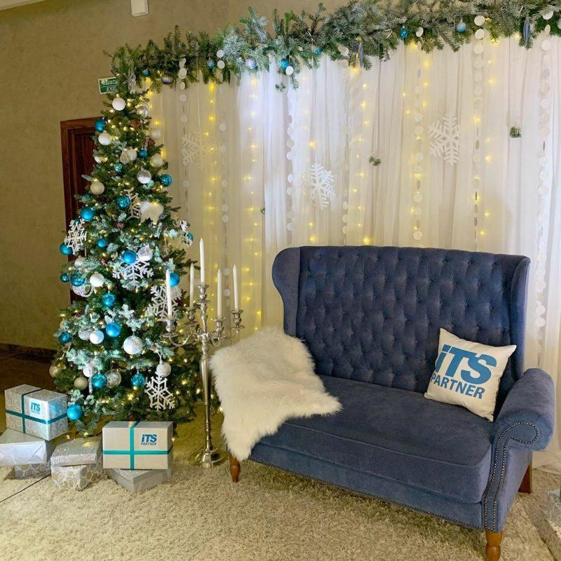 Рождественская фотозона для компании ITS Partner