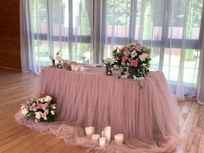 Свадебное оформпление в усадьбе «Охотник в дуба»