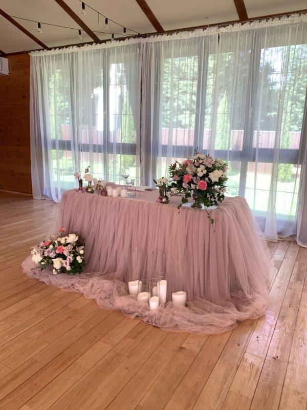 Украшение свадебного зала - декор стола молодоженов. План рассадки, свадебная флористика, оформление свадьбы.