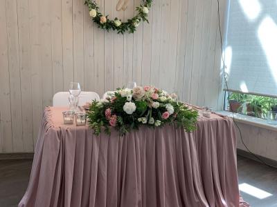 Свадебное оформление в кафе «Оранжерея»