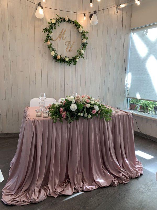 Свадебный декор в кафе «Оранжерея». Оформление свадебного зала 17-го июля.