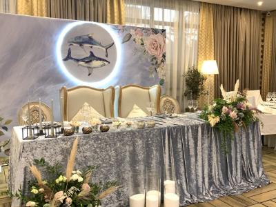 """Украшение свадебного зала в ресторане """"Bella Rosa"""""""
