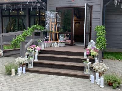 Свадебный декор в ресторане отеля «Ислочь Парк»
