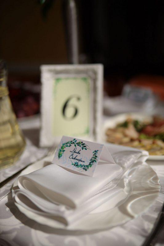 Номерки на гостевые столы и карточки рассадки